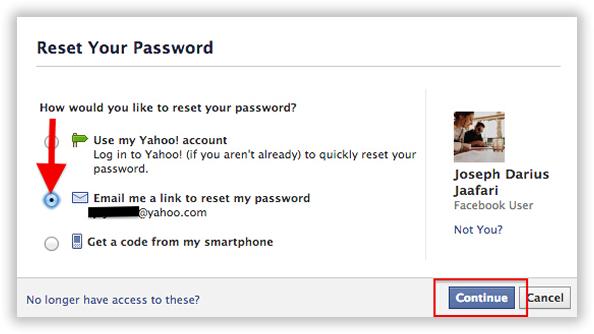 Method 3: Hack Facebook Profile Via Forgot Password Technique