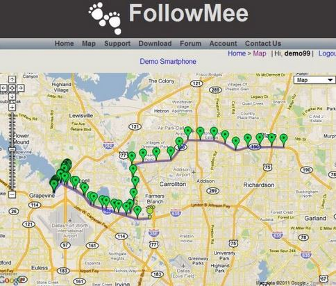 Method 4: FollowMee GPS Tracker