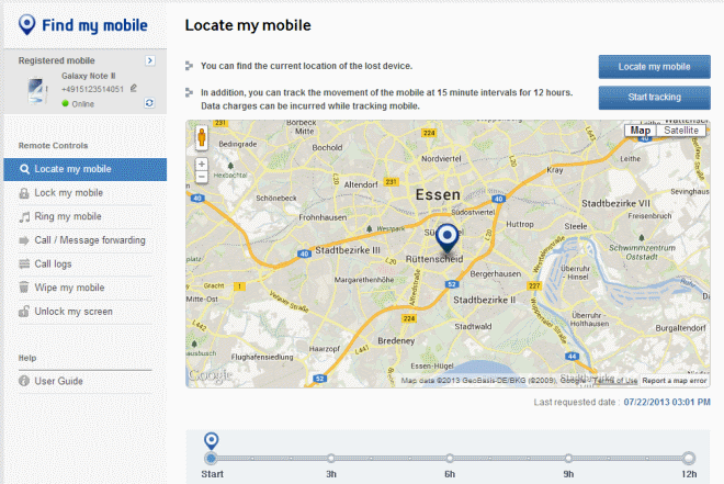 Method 4: Ways to track Samsung phone place free of charge