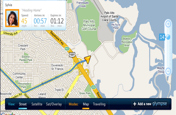 #5 GPS Tracker Apps for Android - Glympse